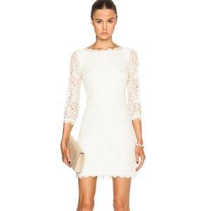 DVF Diane Von Furstenberg Zarita Lace Dress Ivory